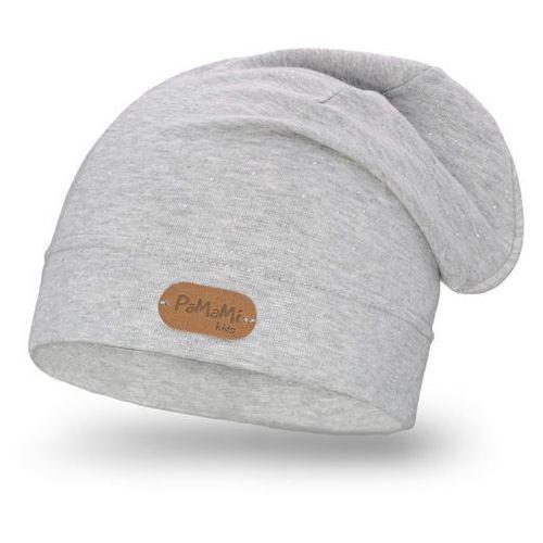 Wiosenna czapka dziewczęca - jasnoszary - jasnoszary marki Pamami
