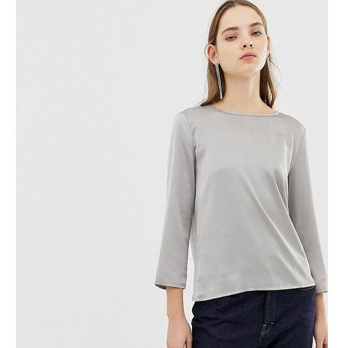 Mango long sleeved satin blouse - Brown