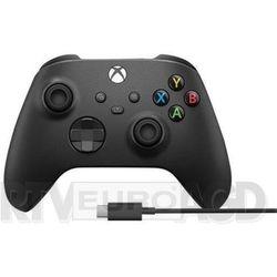 Microsoft Xbox Series Kontroler bezprzewodowy + kabel USB-C (carbon black), 1V8-00002