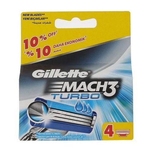 Gillette Mach3 Turbo 4szt M Wkład do maszynki do golenia - Niesamowity rabat