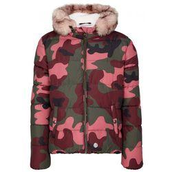 s.Oliver pikowana kurtka zimowa dziewczęca, moro XL różowo-zielona, kolor zielony