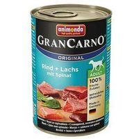 Animonda grancarno adult smak: wołowina, łosoś i szpinak 400g - 0,4kg (4017721827546)