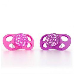 Smoczki uspokajające Twistshake Mini 0m+ - różowy/fioletowy 2 szt