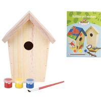 Esschert Design DIY domek dla ptaszków z farbą 14,8x11,7x20 cm KG145 (8714982065682)