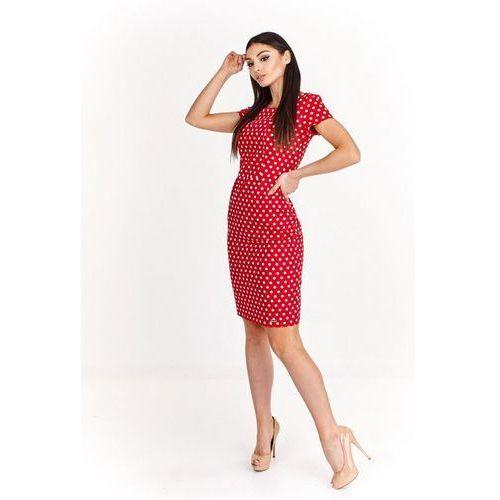 Ołówkowa sukienka do kolan z odkrytymi plecami, M55987_1_s