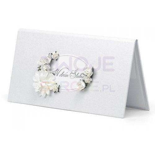 Twojestroje.pl Ozdobne etui na pieniądze w dniu ślubu białe (5901157463753)