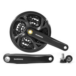 Shimano Mechanizm korbowy fc-m371 175mm 44x32x22t czarna z osłoną
