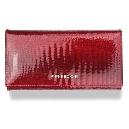 aed171afdb86d Portfel damski skórzany 411 czerwony lakierowany (Peterson) - sklep ...