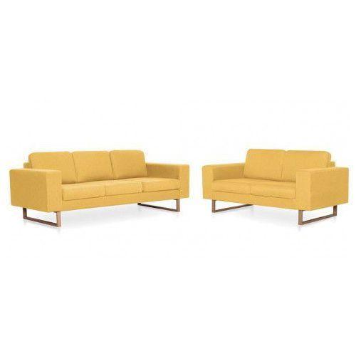 Zestaw wypoczynkowy williams 2+3 - żółty marki Edinos premium