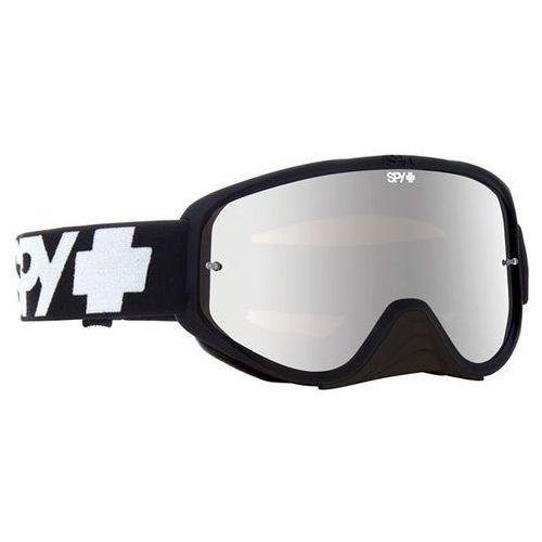 Gogle narciarskie woot race black - smoke w/ silver mirror (+clear anti fog w/ posts) Spy