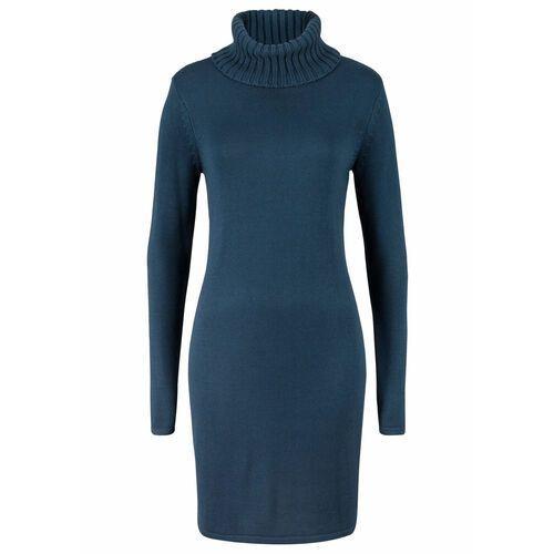 "Sukienka z dekoltem ""carmen"" ciemnoniebieski marki Bonprix"