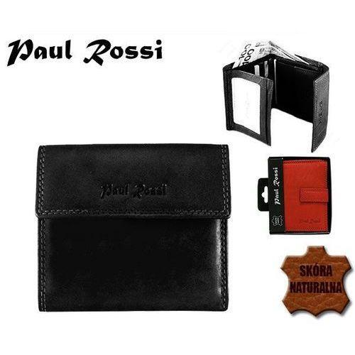Czarny portfel damski ze skóry naturalnej - czarny Paul rossi