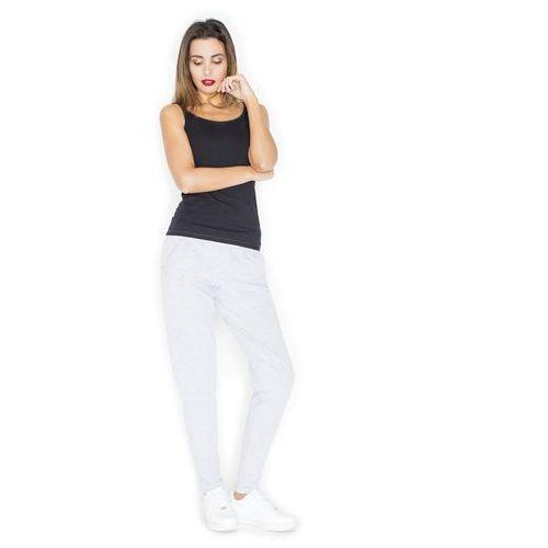 Szare komfortowe dresowe spodnie z kieszeniami marki Katrus