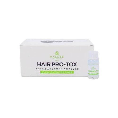 Kallos Cosmetics Hair Pro-Tox Ampoule preparat przeciwłupieżowy 60 ml 6x 10 ml hair botox anti-dandruff ampoule dla kobiet