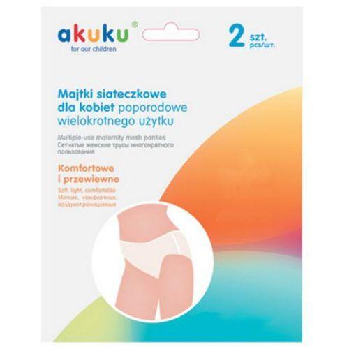 A0235 2szt xl wielorazowe majtki poporodowe siateczkowe Akuku