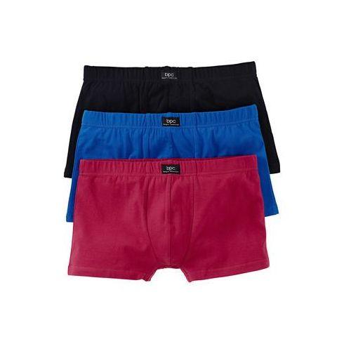 """Bokserki """"hipster"""" (3 pary) bonprix czarny + czerwony + niebieski, w 6 rozmiarach"""