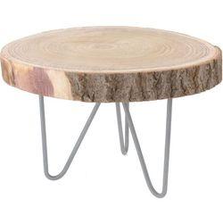 Niski stolik okazjonalny, stolik nocny - naturalny pień drzewa