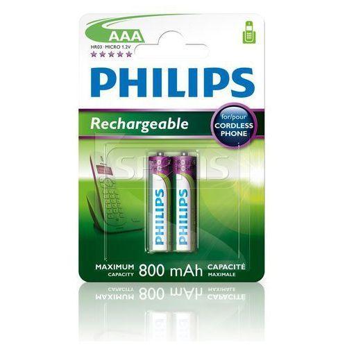 Akumulator  r03b2a80/10 aaa 800mah 2 szt. marki Philips