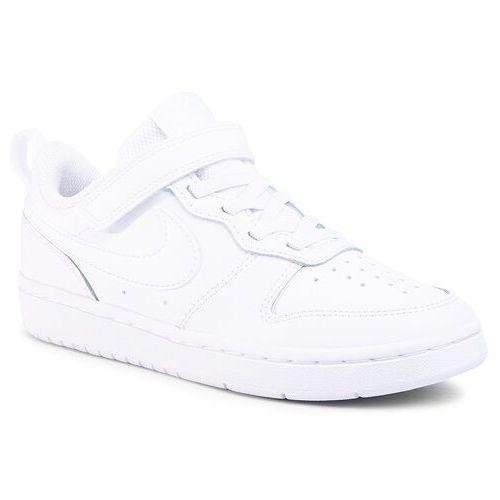Buty - court borough low 2 (psv) bq5451 100 white/white/white marki Nike