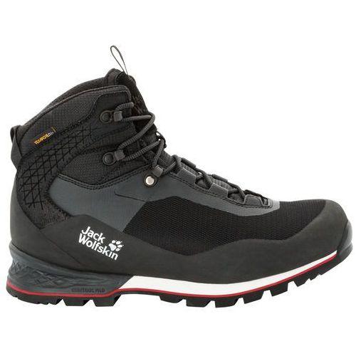 Buty górskie męskie WILDERNESS LITE TEXAPORE MID M black red 10, 4035281 6047100 (Jack Wolfskin)