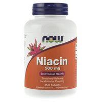 Now Foods Niacin (Niacyna) 500 mg - 250 tabletek