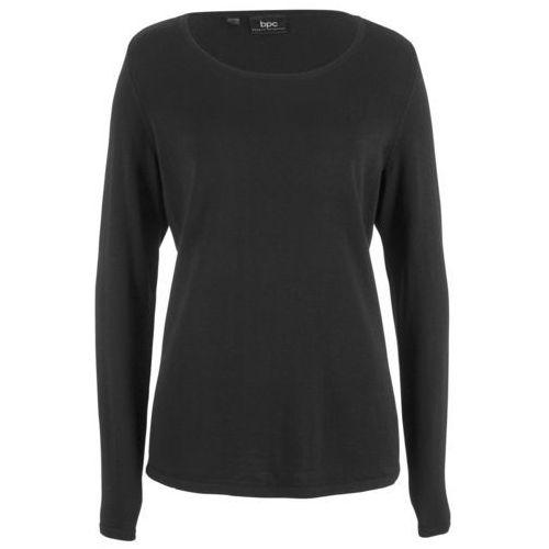 Sweter rozpinany bonprix antracytowy melanż w paski, rozpinany
