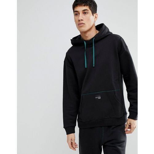 Adidas originals eqt pullover oversized hoodie in black cd6856 - black