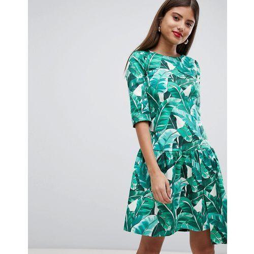 d25bac8f09 Drop hem tropical print dress - multi (Closet London) - sklep ...