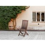 Krzesło ogrodowe - ogród - meble ogrodowe - taras - drewno - maui marki Beliani