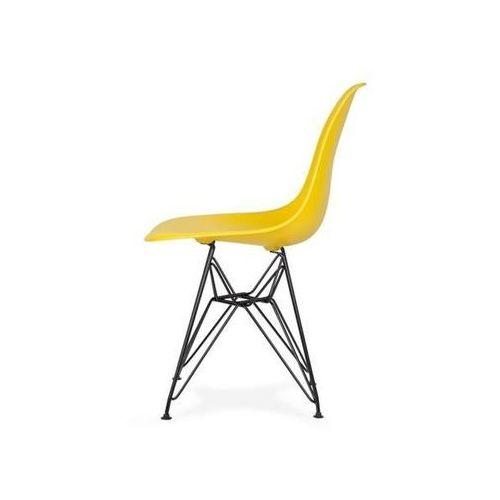 Krzesło plastikowe DSR BLACK słoneczny żółty.09 - podstawa metalowa czarna
