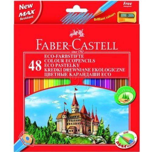Kredki ołówkowe 48kol. Faber-Castell Eco + temp. 120148