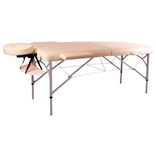 Insportline Profesjonalny stół do masażu tamati kremowo biały 8595153706494