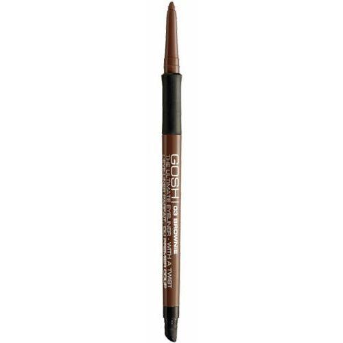 Gosh ultimate eyeliner with a twist - brownie wykręcana kredka do oczu (03) Gosh copenhagen - Niesamowita cena