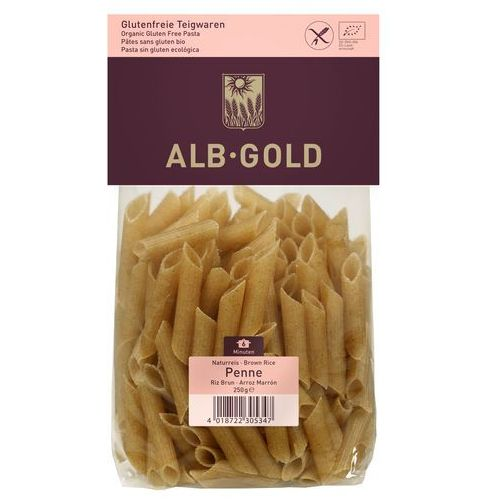 Alb-gold (makarony) Makaron penne z ryżu brązowego bio bg 250g - alb-gold