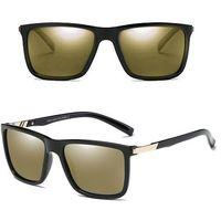 Okulary polaryzacyjne przeciwsłoneczne męskie - gloss black/brown