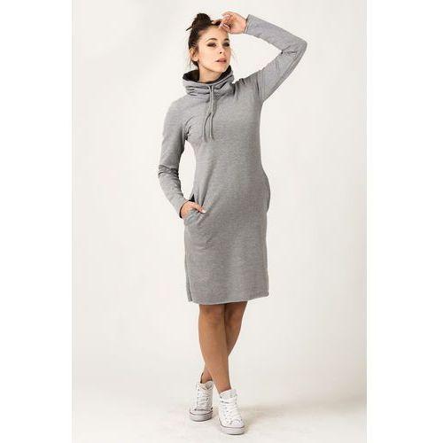 0d585ce868 Dresowa dwukolorowa sukienka z golfem kaja szara (Tessita) opinie + ...