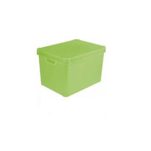 Pojemnik ozdobny z pokrywą zielony Colors Curver