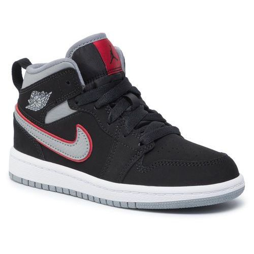 Buty NIKE - Jordan 1 Md (Ps) 640734 060 Black/Particle Grey/White, kolor czarny