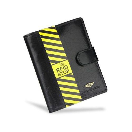 406d5890c2ef7 Portfel Męski Peterson Skórzany Czarny Zapinany z Systemem RFID Pojemny 314  - galeria