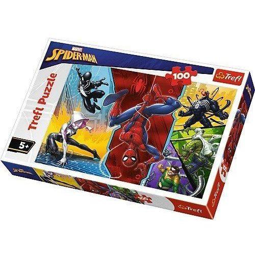 Puzzle 100 Do góry nogami Marvel Spiderman TREFL (5900511163476)