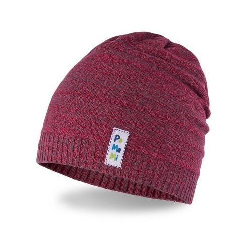 Wiosenna czapka chłopięca - czerwony - czerwony marki Pamami