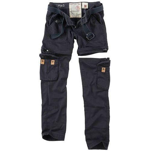 Surplus spodnie damskie bojówki trekking premium 2w1 czarne - czarny
