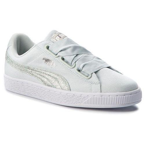 Sneakersy - basket heart canvas 366495 03 blue flower/white/silver marki Puma