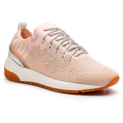 Sneakersy PEPE JEANS - Foster Space PLS30858 Petal 312, kolor pomarańczowy
