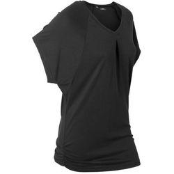 """T-shirt sportowy """"nietoperz"""", krótkie rękawy bonprix czarny, kolor czarny"""