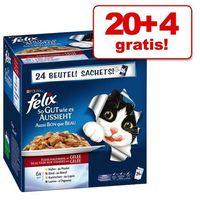 Felix 20 + 4 gratis! sensations/fantastic (so gut wie es aussieht), 24 x 100 g - fantastic (so gut wie es aussieht), rybne smaki | rabat 20% na bestsellery ||darmowa dostawa od 89 zł i super promocje od zooplus! (7613032723217)
