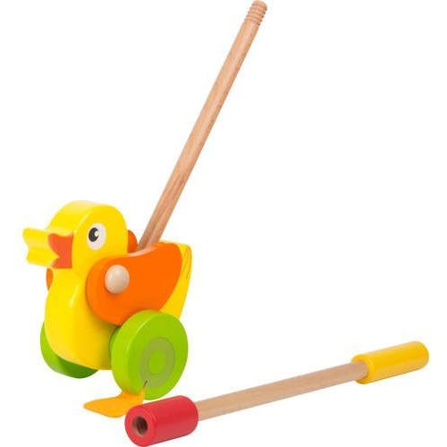 Zabawka do pchania dla dzieci - kaczuszka Zielononóżka