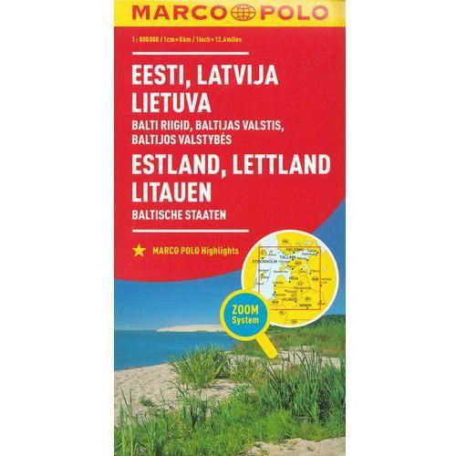 Marco Polo Mapa Samochodowa Estonia, Łotwa, Litwa 1:800 000 Zoom (2 str.)