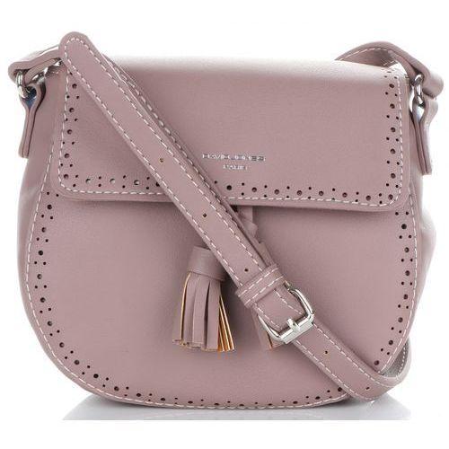 e1dfe36ee3443 Uniwersalne torebki damskie listonoszki firmy brudny róż (kolory) marki  David jones
