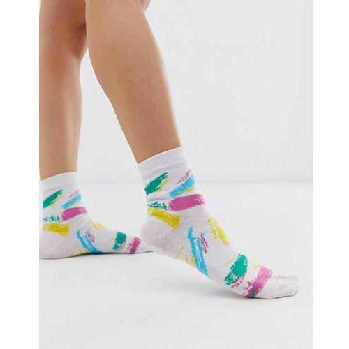 c3e5ba3da31 Zobacz w sklepie ASOS DESIGN 80s print ankle socks - White